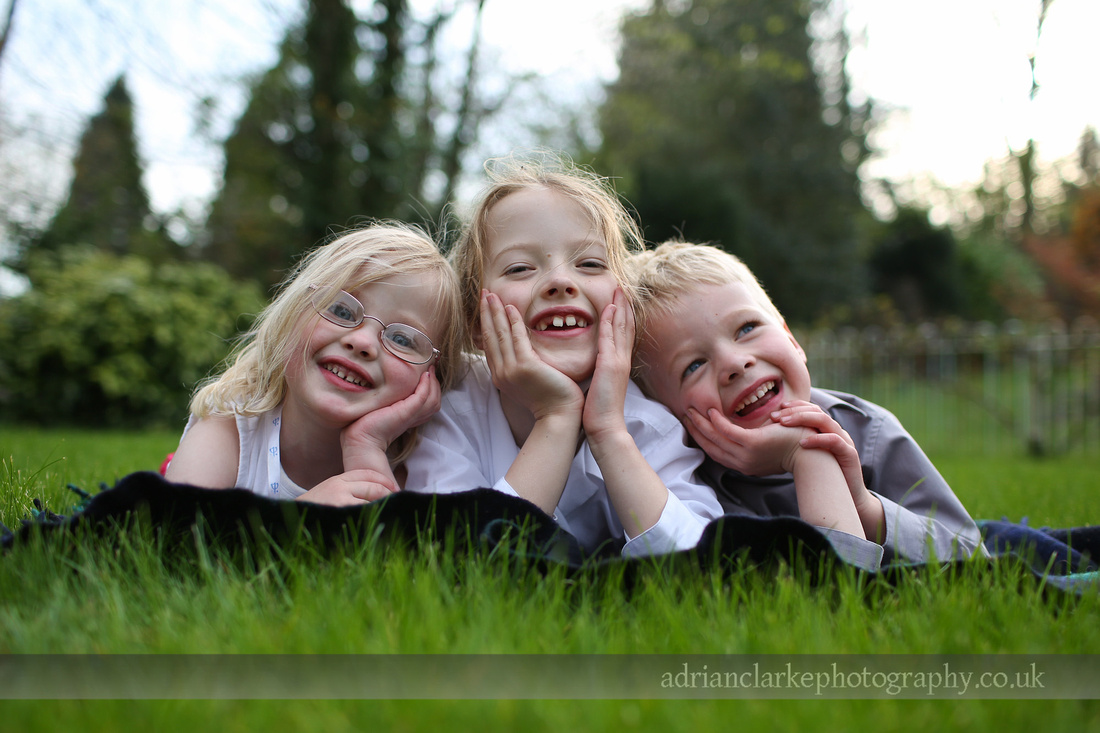 portrait photograph of children in a garden, sevenoaks, tunbridge wells, kent