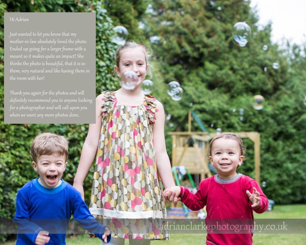 feedback from customer family photoshoot