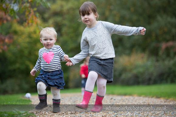 Photograph of children walking along a path, Brasted, Sevenoaks