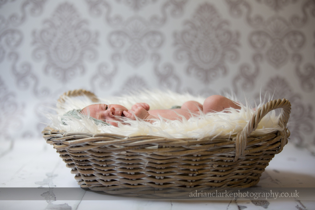 newborn baby photography, Sevenoaks Kent, baby in basket