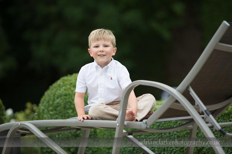photograph of young boy in garden, kent