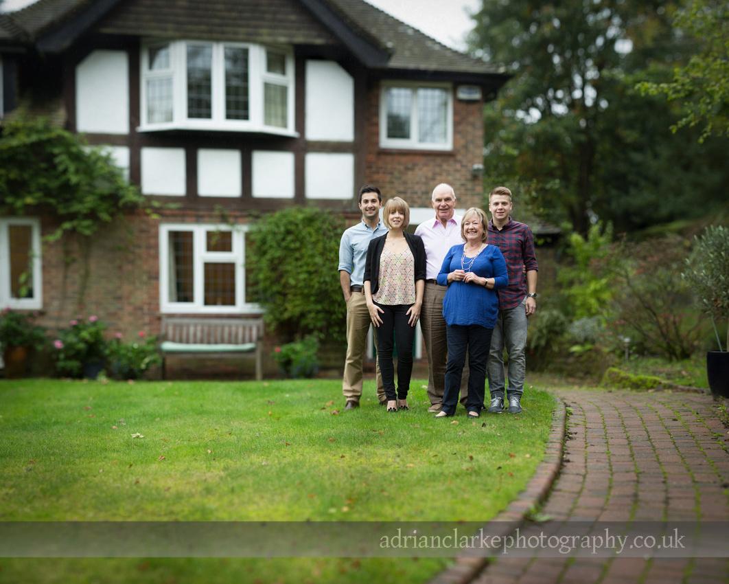 family portrait Sevenoaks, Kent