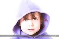 Portrait of young girl wearing a hoodie